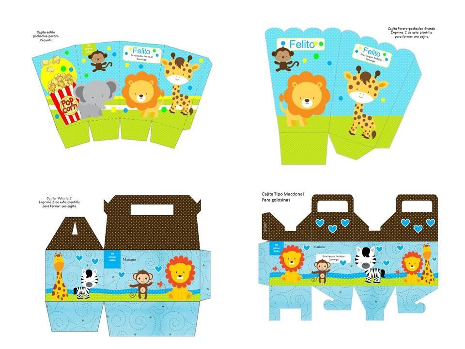 Kit Imprimibles Animales De La Selva | apexwallpapers.com