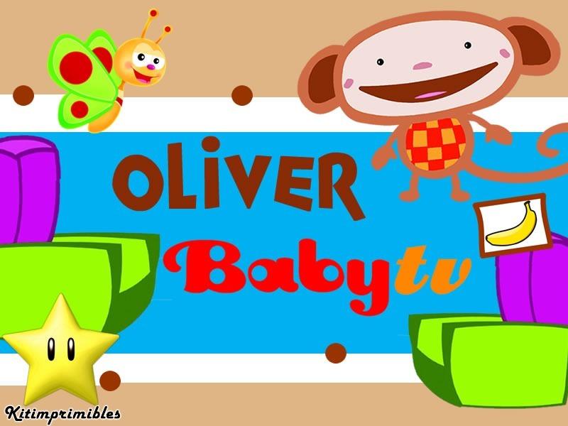 Kit imprimible oliver de baby tv dise 241 225 tarjetas cumple bs 59 00