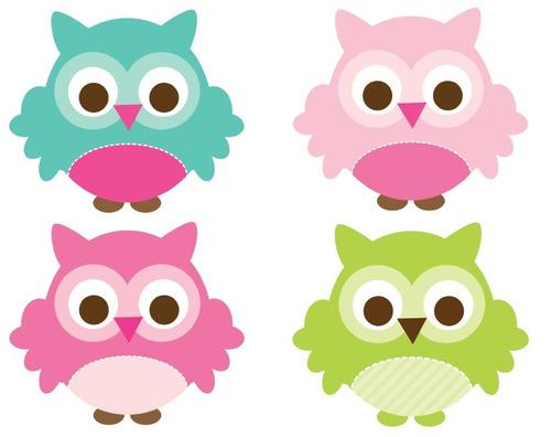 Resultado de imagen para buhos bebes animados para imprimir