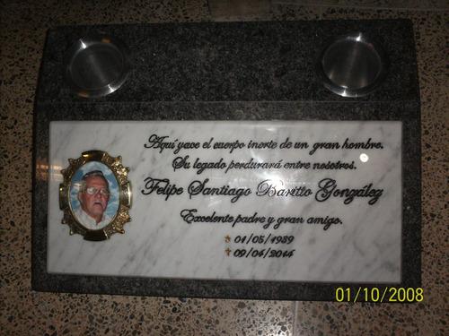 Lapidas, Placas Conmemorativas Y Otros, Grabado En Marmol