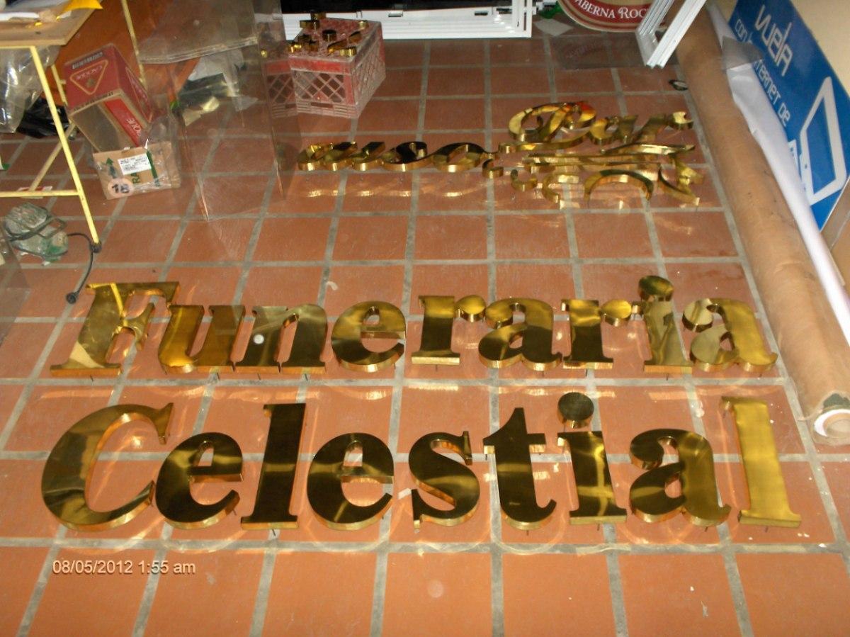Letras corporeas en acero inoxidable metal y bronce for Letras decoracion metal