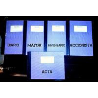 Libros Contabilidad Diario Mayor Inventario Accionista Acta