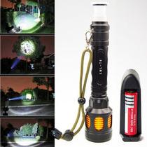 Linterna De 2000 Lumens T6 Con Cargador Y Pila