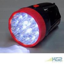 Linterna Con Bateria Recargable Incluida Con 15 Led +correa