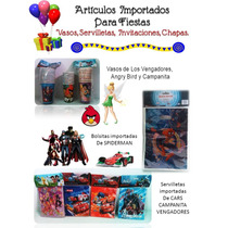 Articulos Para Fiestas Campanita Spiderman Angry Bird Vengad