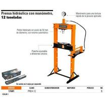 Prensa Hidráulica Con Manómetro, 12 Toneladas
