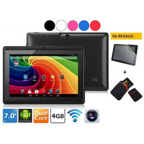 Tablet 7 Pulg Android 4.4 Dualcore A23 Wifi 4gb + 2 Regalos