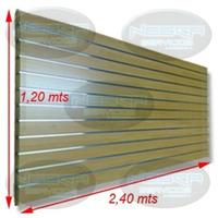 Panel Acanalado Con Aluminio, Separación De 15 Cm