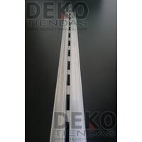 Perfil Cremallera Invisible De Aluminio 2.40mts