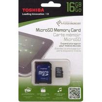 Memoria Micro Sd 16 Gb Toshiba Con Adaptador