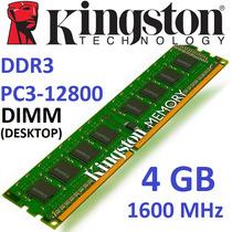 Memoria Ram Kingston Ddr3 4gb 1600mhz Pc3-12800 Dimm 240 Pin
