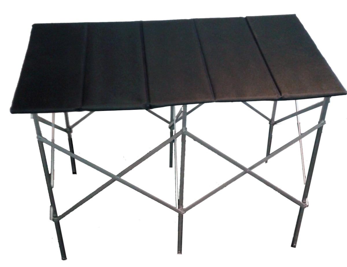 Mesa plegable de aluminio y mdf con lona caracas for Mesa centro plegable