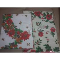 Manteles De Navidad Navideños Plasticos 4 Sillas Redondo