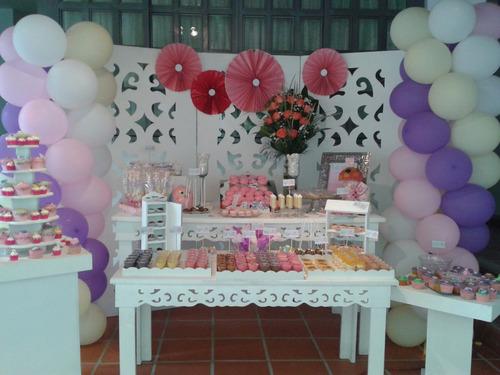 Mesas Puff Candy Bar Sillas Toldos Decoraciones Globos Y Mas