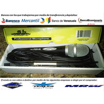 Microfono Dinamico Profesional Soundbarrier +cable Y Estuche