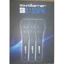 Microfono Profesional Triple Soundbarrier Modelo Sb815(3pk)