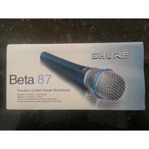 Vendo Microfono Shure Beta 87a Nuevos