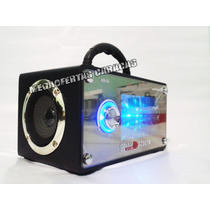 Radio Reproductor Recargable Puerto Usb, Sd + Control