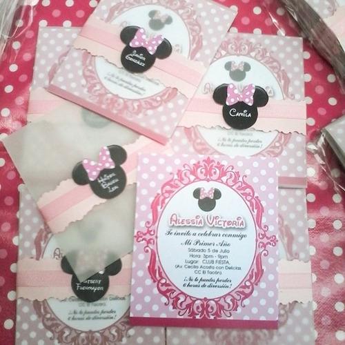 Invitaciónes personalizadas Minnie Mouse - Imagui