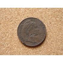 Moneda Venezuela 1 Centavo Monaguero 1858 Libertad Relieve