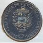 Moneda 5 Bolivares 1990.