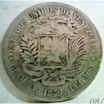 Hermoso Y Entero 1879 Fuerte De Plata