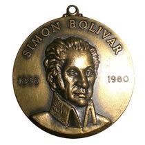 Medalla De Bolívar Sesquicentenario De Su Muerte