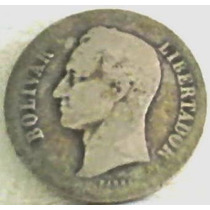 1929 Dos Bolívares De Plata De Venezuela