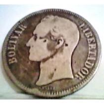 1886 Fuerte De Plata Moneda Inicial En Venezuela