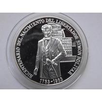 Moneda De Plata. Bicentenario Del Libertador Simón Bolívar