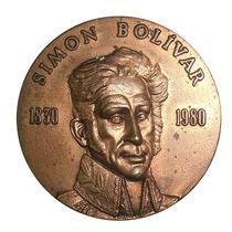 Medalla De Bolivar Sesquicentenario De Su Muerte 1980