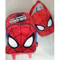 Spiderman Morral Maleta Grand Lonchera Escolar Import Orig
