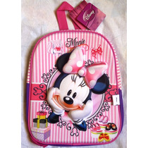 Minnie Mouse Espectacular Morral Mediano 3d Fashion Escolar
