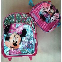 Minnie Disney Morral Maleta Mediana Ruedas Lonchera Escolar