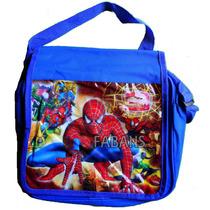 Morral Bolso Escolar Bandolero Ben10 Princesa Spiderman Niño
