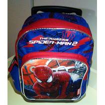 Maleta Morral Escolar Spiderman Ruedas, Hombre Araña Marvel