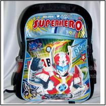 Bolso Morral Superhero Niñas Niños Colegio 38x30x20 Heroe
