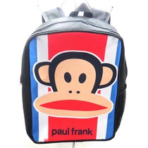 Bello Morral Tipo Paul Frank Bulto Escolar Universidad Bolso
