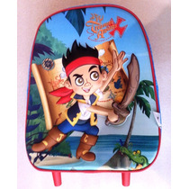 Jake Los Piratas Morral Maleta 3d Relieve Escolar Impor Orig