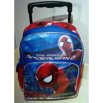 Maleta Morral Escolar Spiderman De Ruedas (hombre Araña)