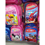 Bolso Morral Escolar Spiderman Car Dra Juguetes Minnie Mouse