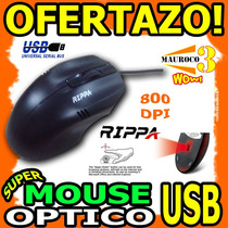 Wow Mouse Optico Usb Rippa 800dpi Para Pc Y Laptop Scroll
