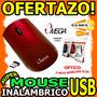 Wow Mouse Inalambrico Usb Omega Slim Wireless 1000dpi 6mts