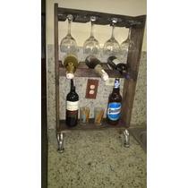 Bar Mini Bar De Pino,envejecido Artesanal