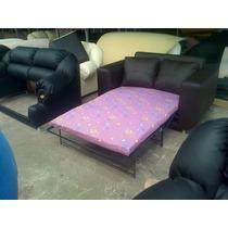 Mueble, Sofa Cama, Juego De Sala En Semicuero
