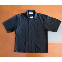 Camisa Negra Tachonada Tipo Chaqueta New York T L
