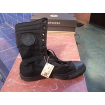 Botas Converse Negras Suela Negra Clásicas Unisex 30 Cms.