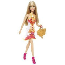 Barbie Tropical Beach Vestido Estampado Muñecas Orig Mattel