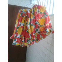 Falda Estampada Joropo Niña - 2 Metros De Ancho