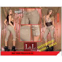 Jeans Pantalones Levanta Cola Efecto Faja Colombiano Control